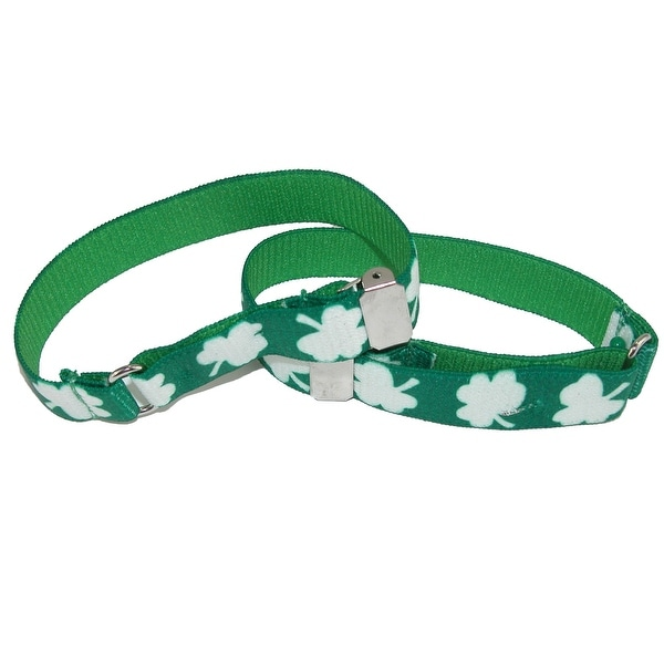 CTM® Men's Elastic Shamrock Adjustable Armband Sleeve Garter