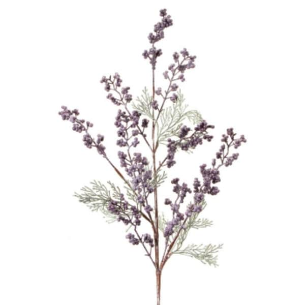 Pack of 6 Cedar with Plum and Frosted White Berries Christmas Spray 31""