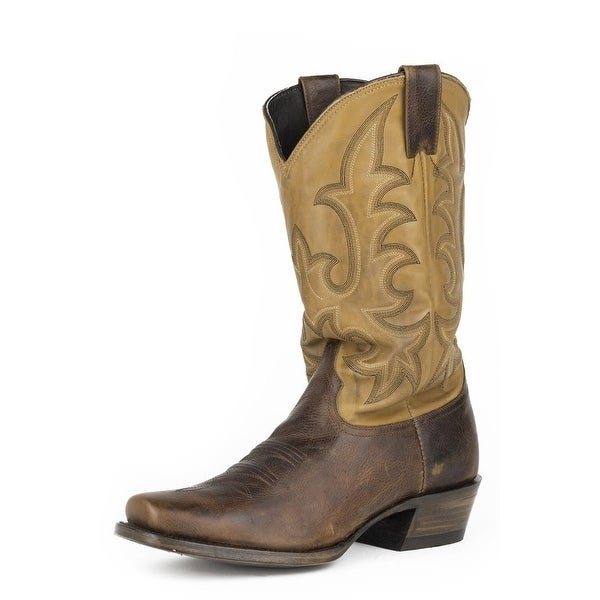 Stetson Western Boots Mens Ficcini Brown
