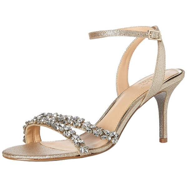 BADGLEY MISCHKA Womens Jarrell Open Toe Special Occasion Ankle Strap Sandals
