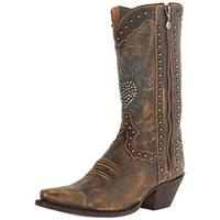 Dan Post Womens Heart Breaker Cowboy, Western Boots Leather Embroidered