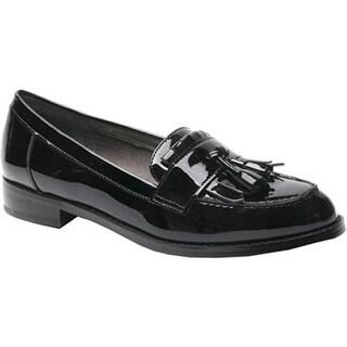 Ros Hommerson Women's Darby Tassel Loafer Black Patent