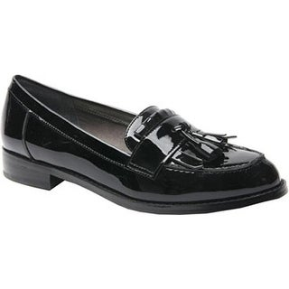 Ros Hommerson Women's Darby Tassel Loafer Black Patent