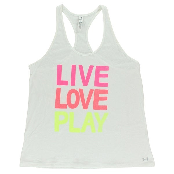 cb5e74adf3 Shop Under Armour Womens Live Love Play Tank Top White - white multi color  - Extra Large - Free Shipping On Orders Over  45 - Overstock - 22614564