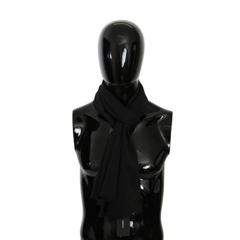 Dolce & Gabbana Black Neck Wrap Mens Shawl 100% Silk Men's Scarf - one-size