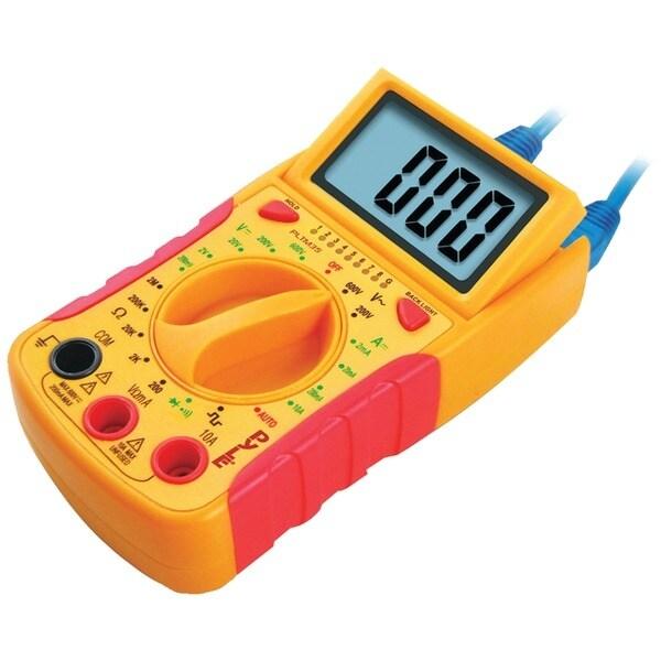 PYLE PRO PLTM35 Mini Digital LCD DC & AC Voltages, DC Current, Resistance & Diode Multimeter
