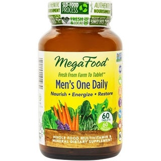 MegaFood - Men's One Daily, Supports Energy Levels & a Healthy Stress Response, 60 Tablets