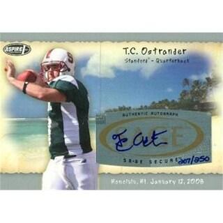 T. C. Ostrander Autographed Football Card Stanford 2008 Sage Aspir