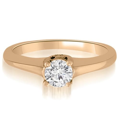 0.53 cttw. 14K Rose Gold Round Cut Diamond Engagement Ring Solitaire