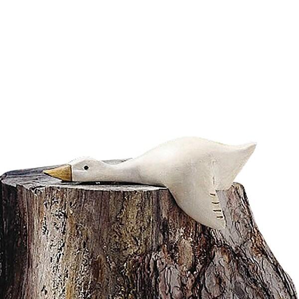 Wood Duck Decoy White 12L x 3.5W