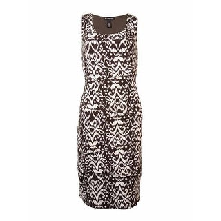 INC International Concepts Women's Tiered Printed Knit Dress