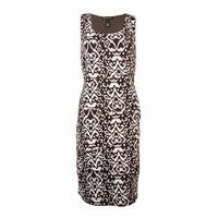 INC International Concepts Women's Tiered Printed Knit Dress - african ikat - l