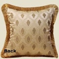 """Luxury Gold Verona Pillow Embellished With Trim 20""""X20"""" - Thumbnail 2"""