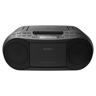 Sony Stereo CD/Cassette Boombox Home Audio Radio, Black (CFDS70BLK), Headphone