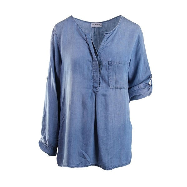 4Our Dreamers Womens BH1609534  Pullover Top Tencel Henley - l
