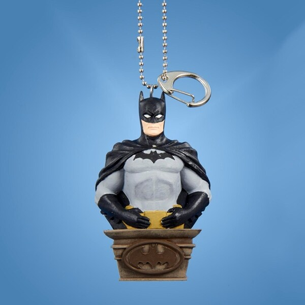 "3.25"" Batman Clip on Keychain Decorative Christmas Ornament - black"