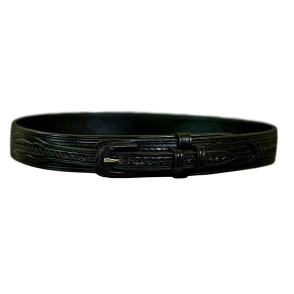 Vogt Silversmiths Western Belts Mens Basket Weave Black