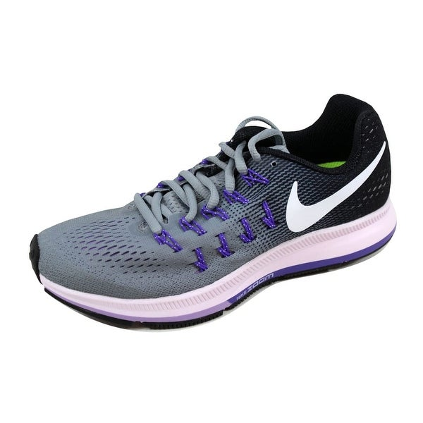 Nike Women's Air Zoom Pegasus 33 Dark Grey/Pink Blast-Black-Cool Grey 831356-003 Size 6