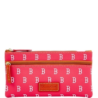 Dooney & Bourke MLB Red Sox Double Zip Flat Pouch (Introduced by Dooney & Bourke at $85 in Oct 2015)