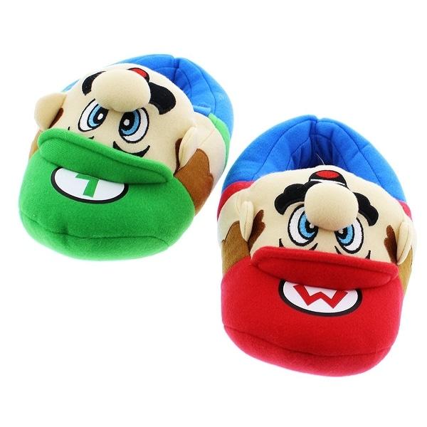 3a18fd1c7 Super Mario Brothers Boys Plush Slippers (Little Kid/Big Kid)<br>