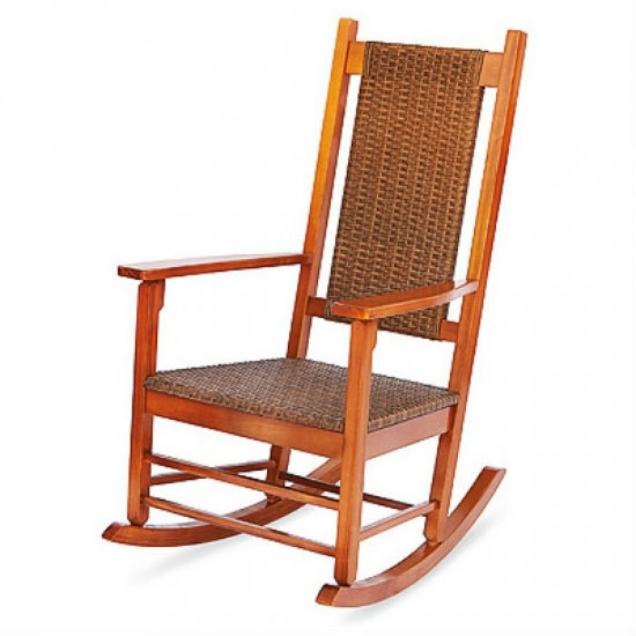 Excellent Jack Post Kn 2028 Knollwood Wicker Rocker Natural Finish Spiritservingveterans Wood Chair Design Ideas Spiritservingveteransorg