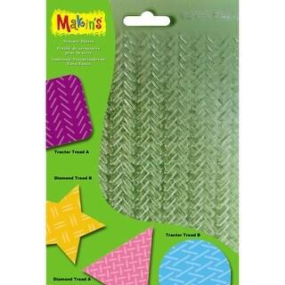 "Makin's Clay Texture Sheets 7""X5.5"" 4/Pkg-Set G (Tractor & Diamond Treads)"