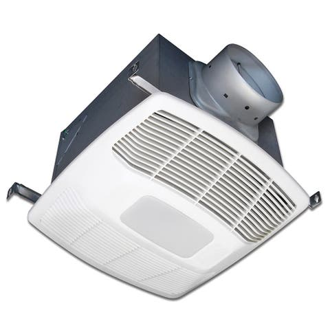 Air King DL4S 130 CFM 0.3 Sone Ceiling Mounted DC Motor LED Light Energy Star Rated Exhaust Fan - White