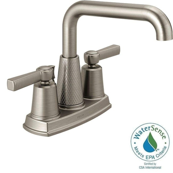 Shop Delta 25743LF-SP Allentown Centerset 2-Handle Bathroom Faucet, Brushed Nickel - Free Shipping Today - Overstock - 22966864