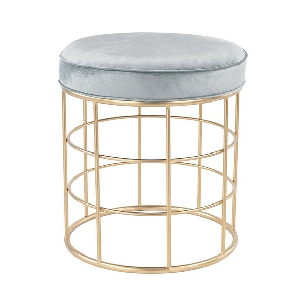"21"" Blue and Gold Beverly Glen Accent Stool - N/A"