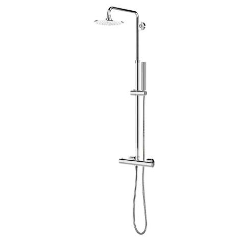Belanger SYM012TSCCP Thermostatic Round Showerhead and Hand Shower System, Chrome