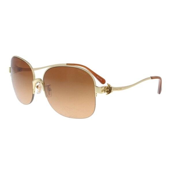 7503158117fc2 Shop Coach HC7068 929278 Gold  Orange Round Sunglasses - 58-16-135 ...