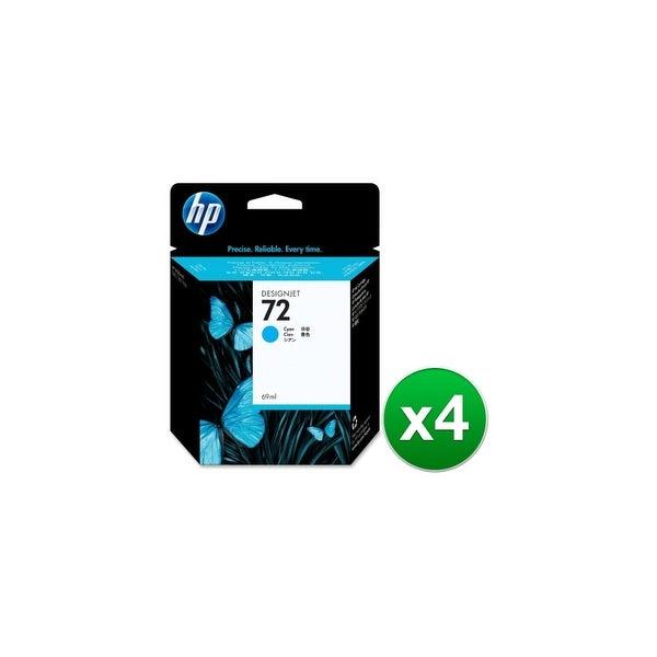 HP 72 69-ml Cyan DesignJet Ink Cartridge (C9398A) (4-Pack)