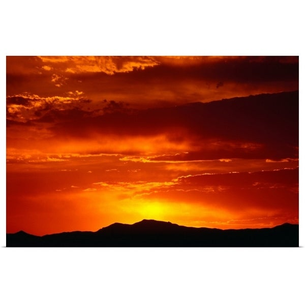 """""""Elephant Butte, Chihuahuan Desert at sunset"""" Poster Print"""