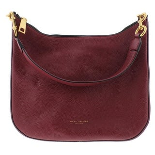 Marc Jacobs Womens Gotham City Hobo Handbag Leather Textured - Merlot - MEDIUM