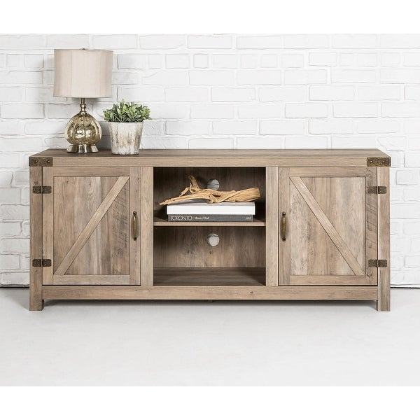 The Gray Barn Firebranch 58-inch Barn Door TV Console