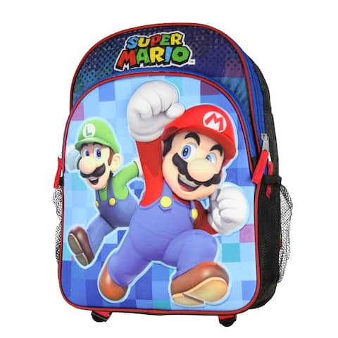 "Super Mario Bros. Luigi Molded Character Graphic Backpack 16"" Backpack"