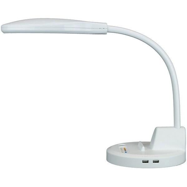 PowerLamp Advanced LED Task Lighting with Integrated USB Power Station White - Multi