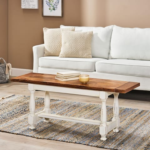Rosewood Mango Wood Coffee Table by Christopher Knight Home