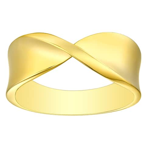 Vedantti 18K Gold Mobius Stackable Bold Wedding Band