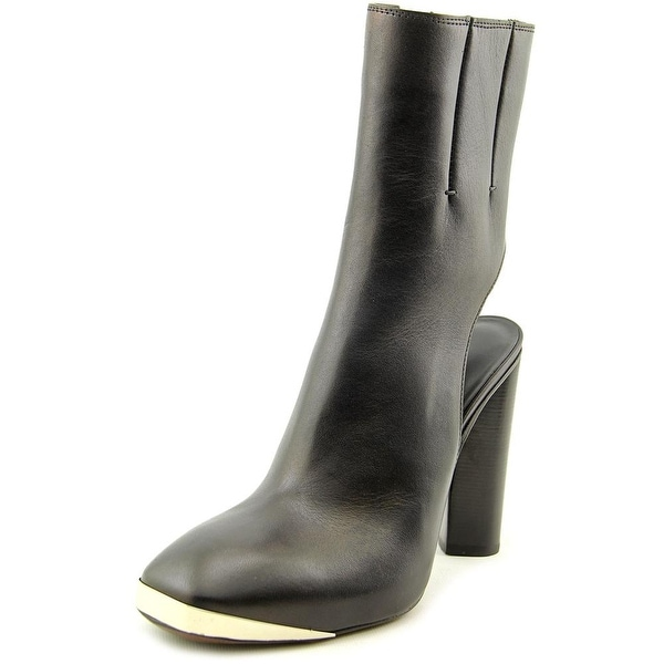 Costume National Gasby Women Round Toe Leather Black Ankle Boot