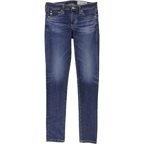 AG Adriano Goldschmied Womens Legging Ankle Skinny Fit Jeans, Blue, 24