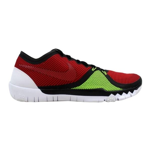 san francisco 4da80 38624 Nike Free Trainer 3.0 V4 Black Team Red-University Red-Volt 749361-