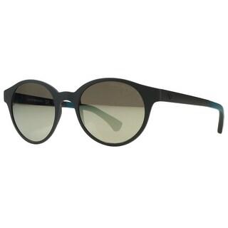 Emporio Armani EA4045 534425 Matte Brown Round Sunglasses