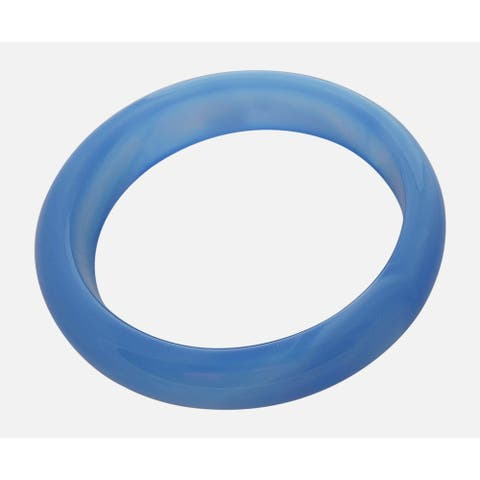 Medium Royal Blue Solid Jade Bangle
