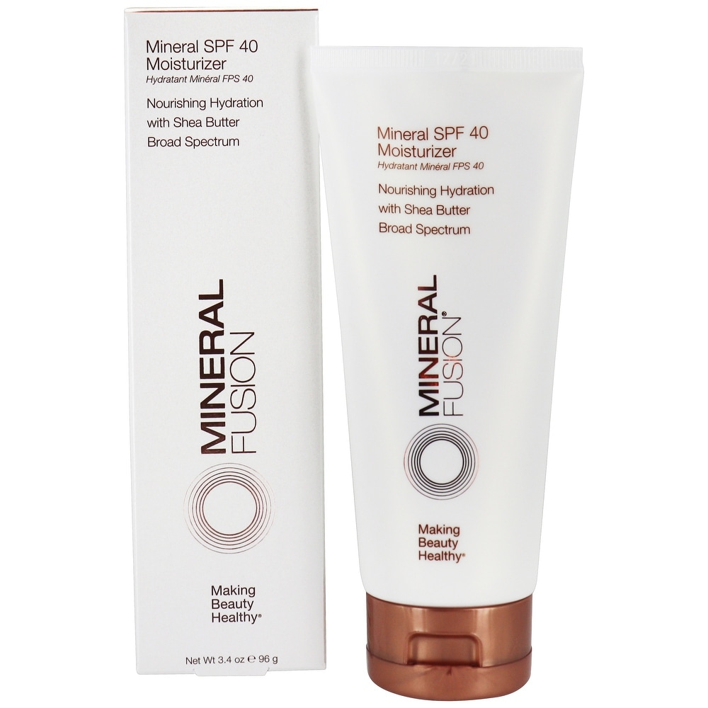 Mineral Fusion - Mineral Face Moisturizer Broad Spectrum 40 SPF - 3.4 (Facial Sunscreen - White)