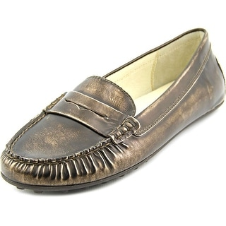 Michael Michael Kors Daisy Women Round Toe Leather Silver Loafer