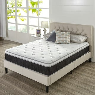 Priage by ZINUS 12 Inch Euro Top Supportive Medium Firm Hybrid Mattress