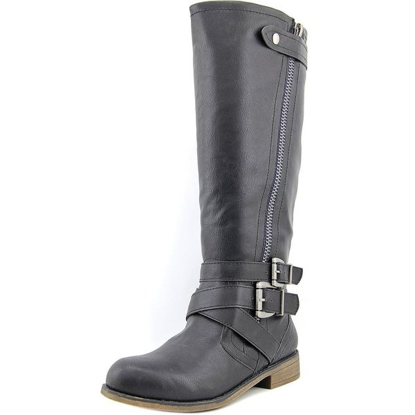Madden Girl Cristy Women Round Toe Synthetic Knee High Boot