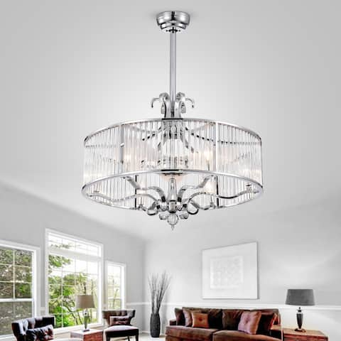"Safavieh Lighting 30-Inch Geneve Ceiling Light Fandelier (with Remote) - 30"" x 30"" x 36.5"""