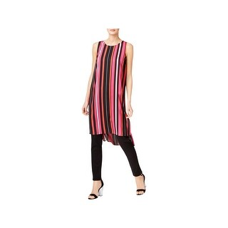 Vince Camuto Womens Tunic Top Striped Hi-Low